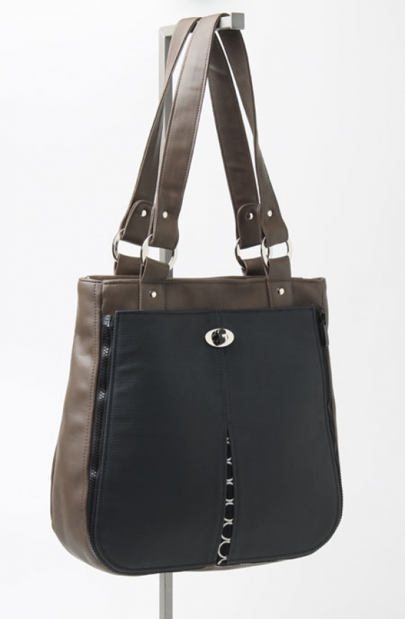 Cocoa Tote with Black Mod Pocket