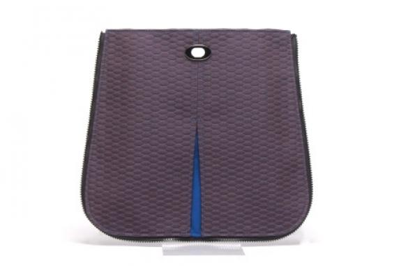 Peek-a-boo Tote Pocket in Tile Purple