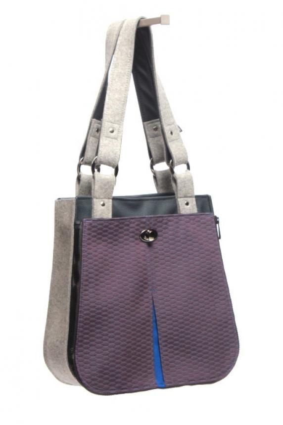 Tile Purple Pocket Shown on Tote