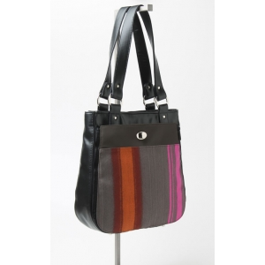 Tote with Painted Stripe pocket