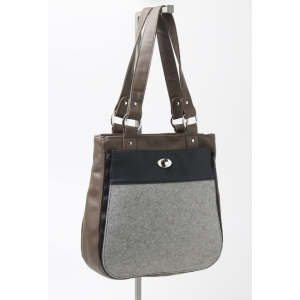 Tote with Felt Pocket
