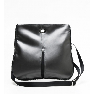 Crossbody in Pewter/Black