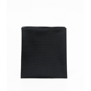 Black Ribbed Flap